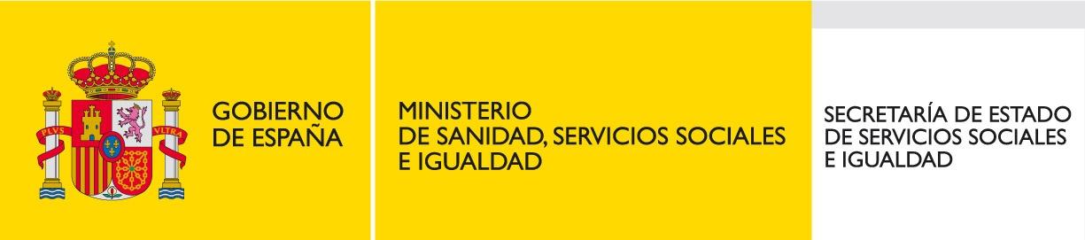Logo Ministerio de Sanidad, Servicios Sociales e Igualdad de España